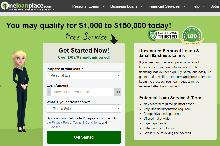 How to Apply for a Loan at One Loan Place