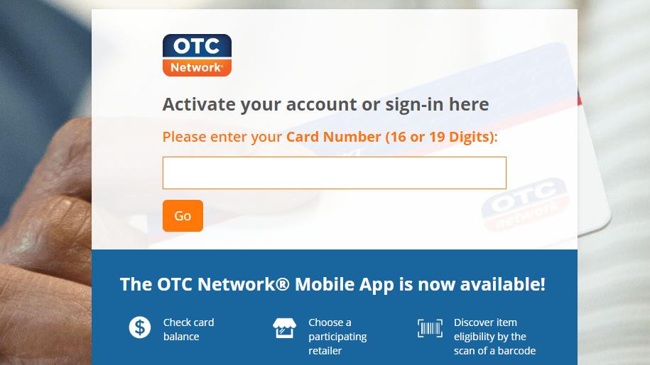 OTC Card activation online
