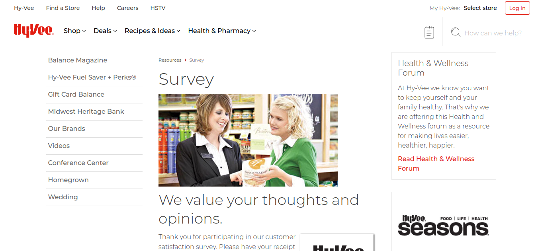 Hy-Vee Survey Logo