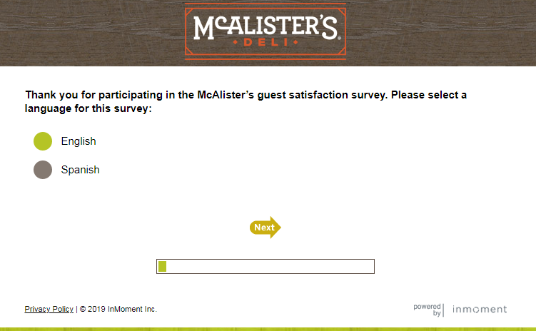 Participate in Talk to McAlister's Survey to get free coupons