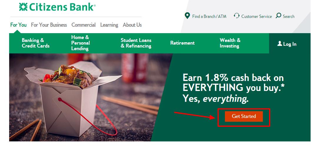 Citizens Financial Cash Back World MasterCard apply online