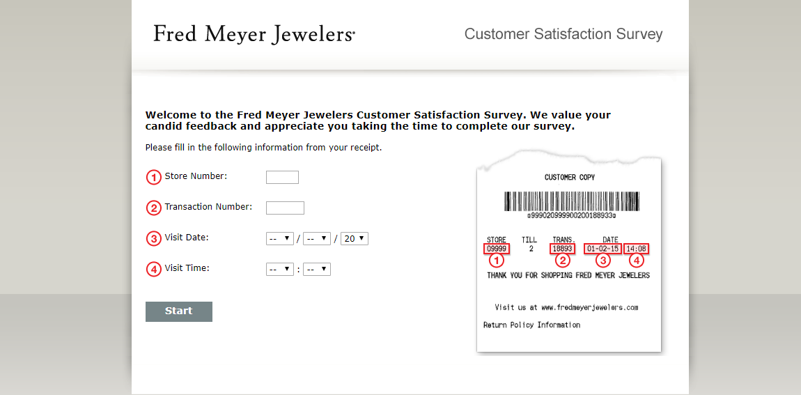 Take a Customer Satisfaction Survey with Fred Meyer Jewelers and get a chance to Win a Grand prize of $5000 Gift Card
