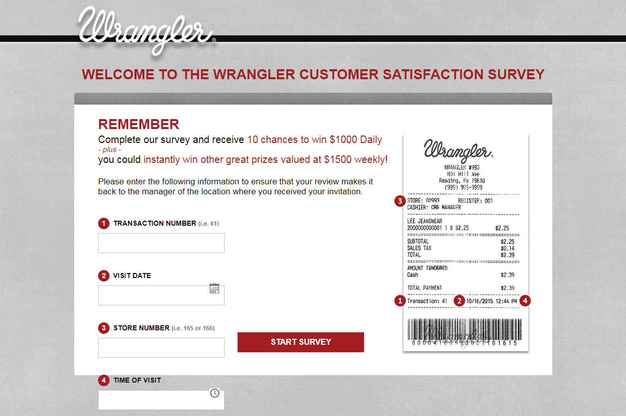 How to Win $1000 with Wrangler Customer Survey