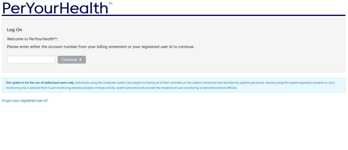 Per Your Health Portal login