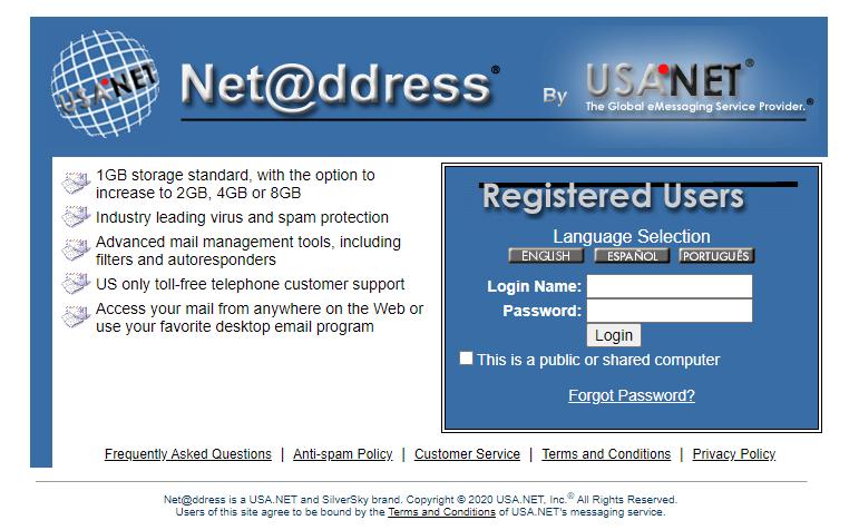 Net Address Email Login