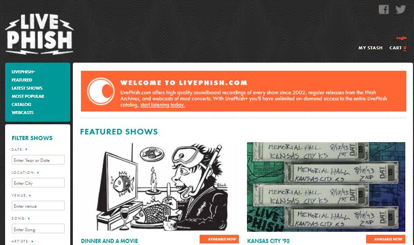 livephish radio
