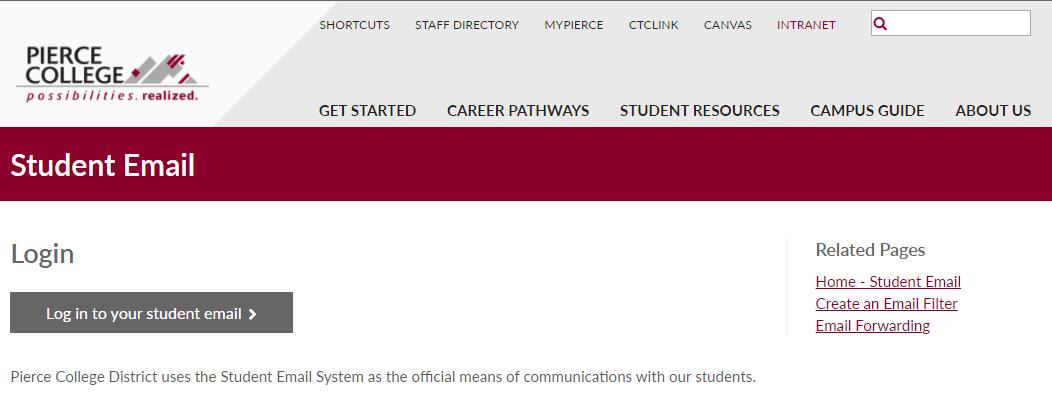 pierce college login