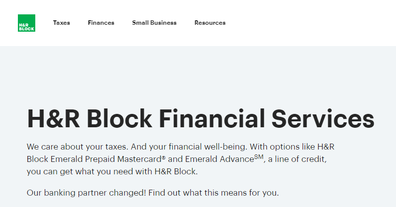 H & R Block Bank Payment