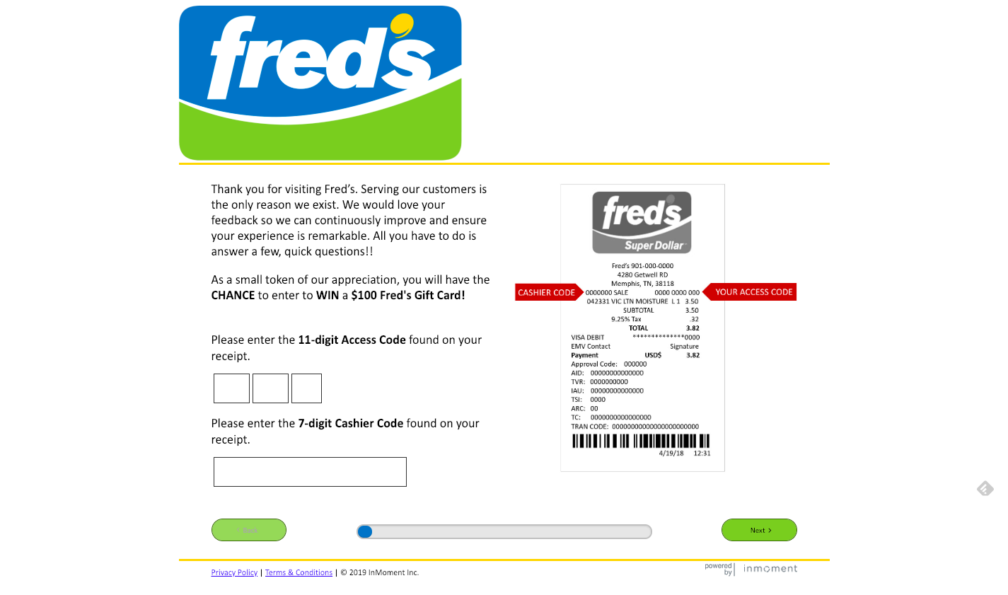 www fredsfeedback com - Take Fred's Feedback Survey to Win