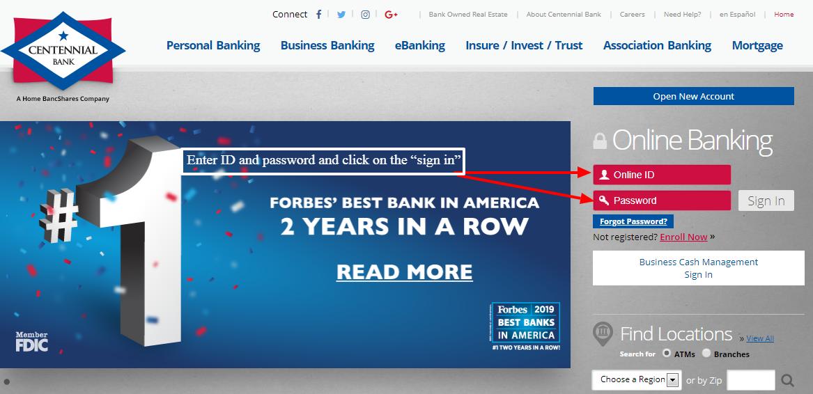 Centennial Bank Internet Banking Login