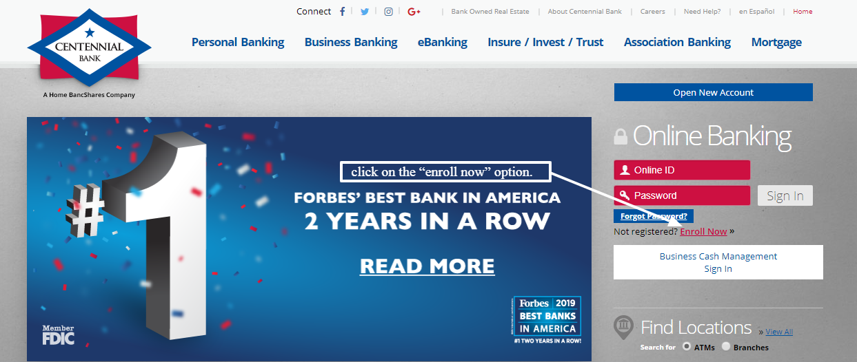 Centennial Bank online Banking Login - my100bank