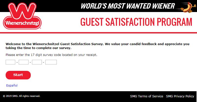 Give Feedback With Wienerschnitzel Guest Satisfaction Survey