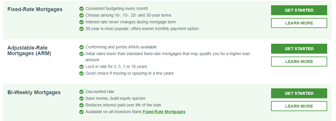 Apply For Investors Bank Personal Mortgage