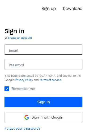 Dropbox Sign up