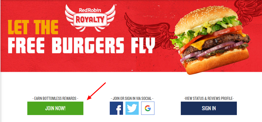 How to Join The Red Robin Royalty Program Online