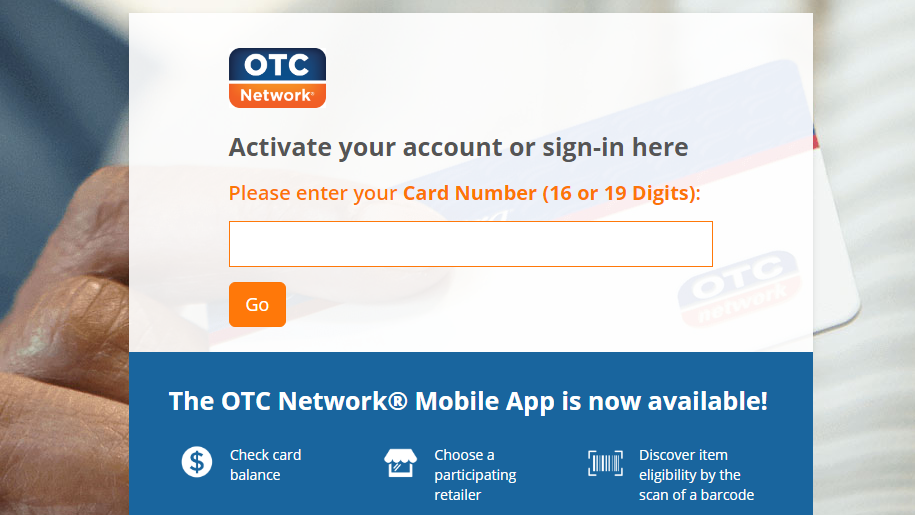 OTC Card activation online