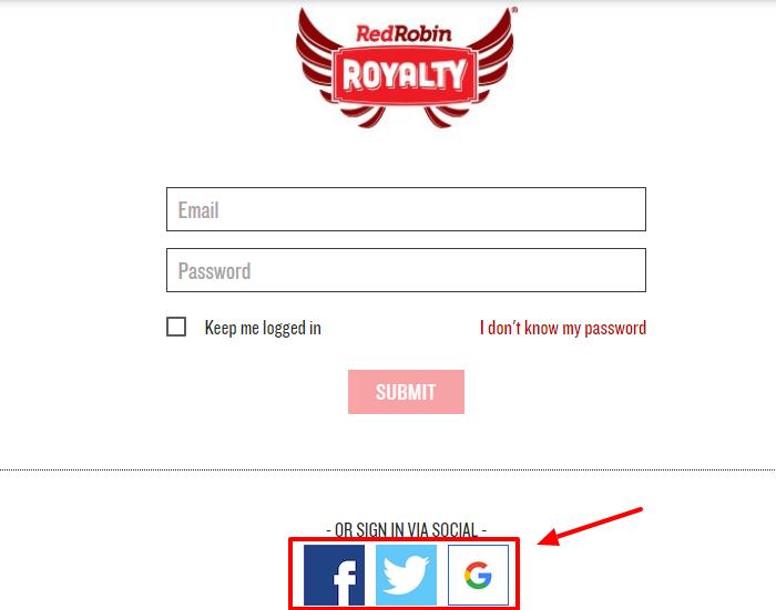 Register for Red Robin
