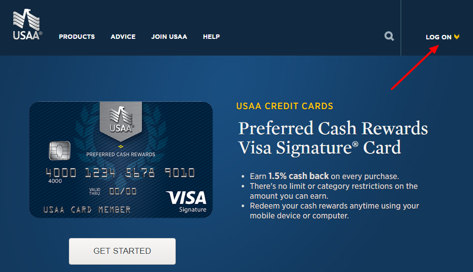 USAA Credit Cards online login