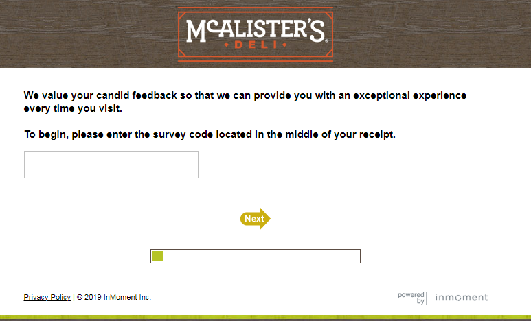 Participate in Talk to McAlister's Survey