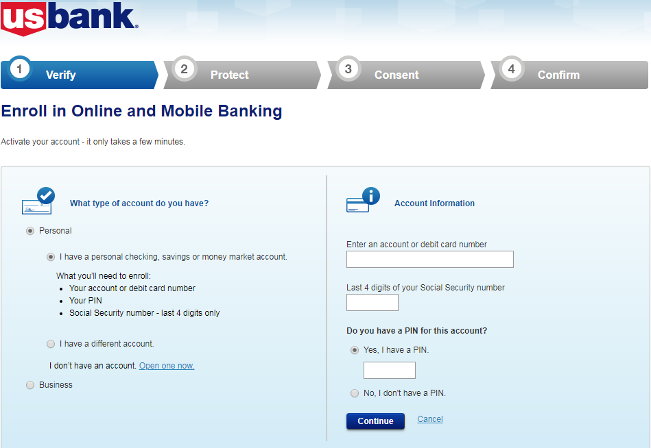 Enroll In U.S. Bank Online Banking & Create an Online Account