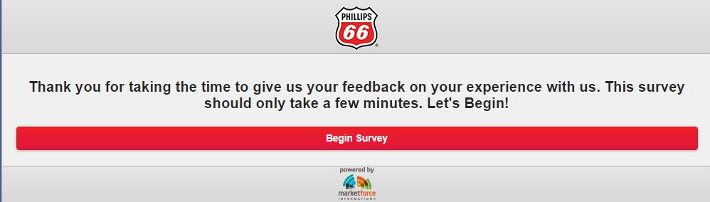 Phillips 66 Survey & Win Free Gas