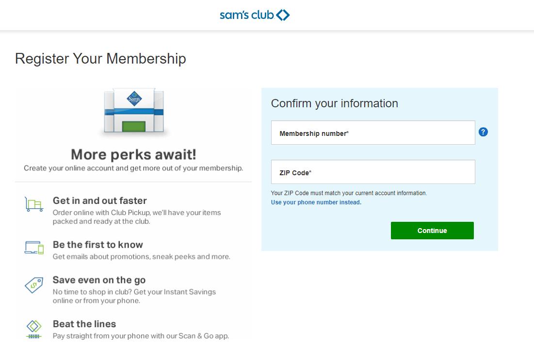 Sam's Club Credit Card Register Your Membership