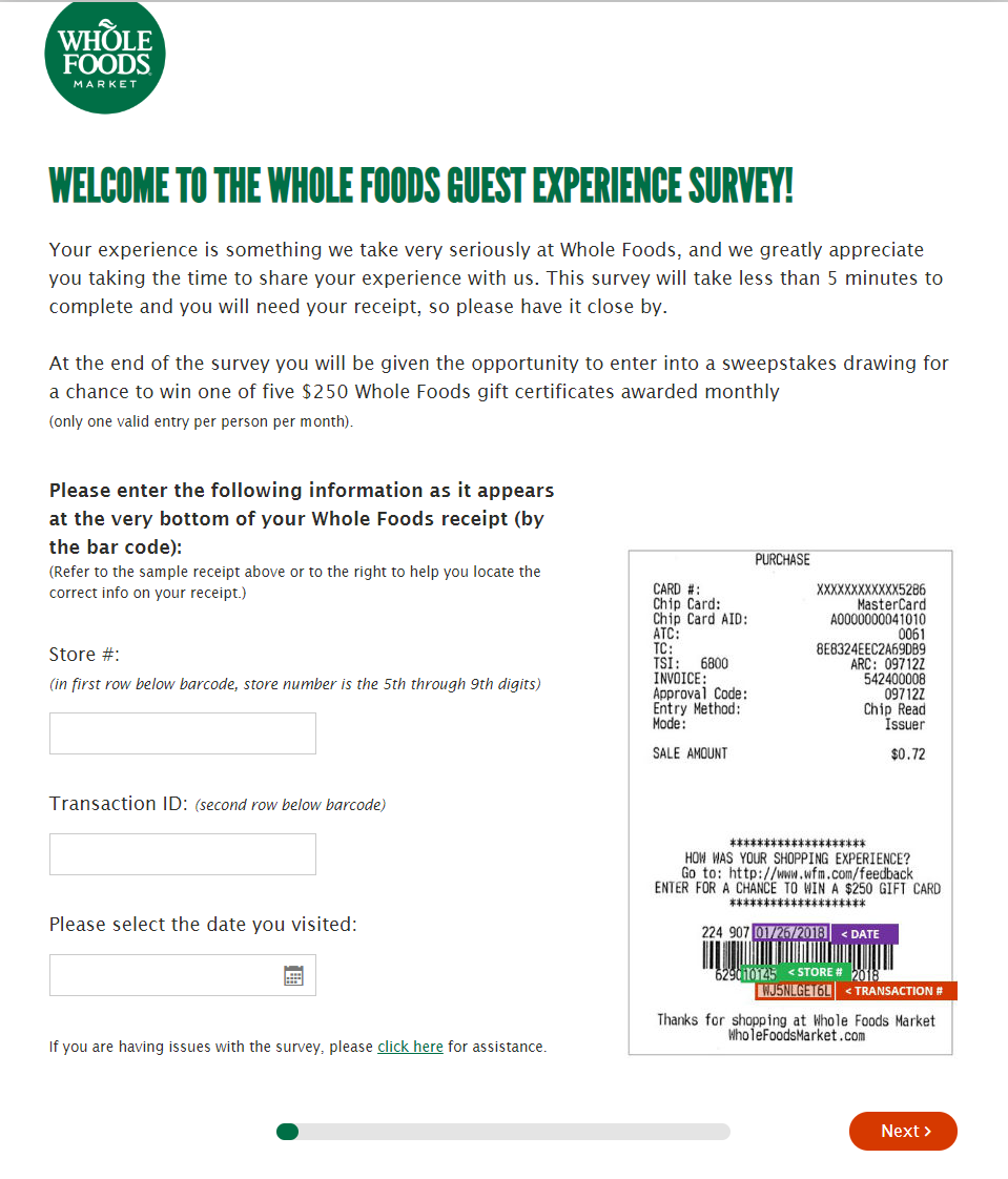 Take Part In The Whole Foods Survey