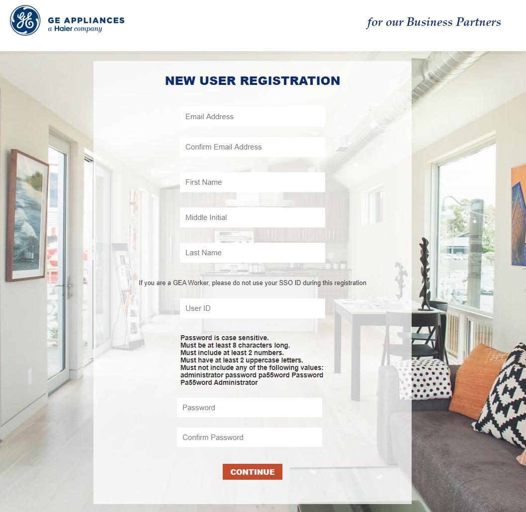 register GE Customer Net