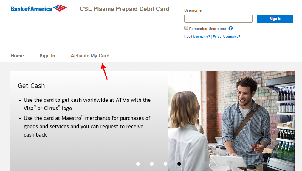 CSL Plasma Prepaid Debit Card Activate