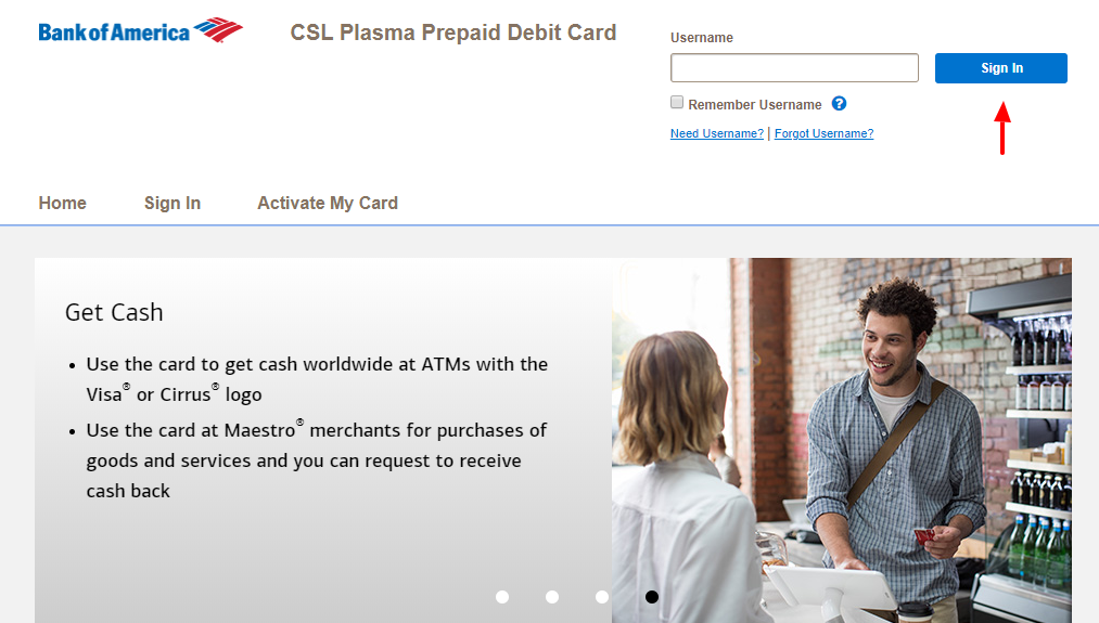 CSL Plasma Prepaid Debit Card Sign In