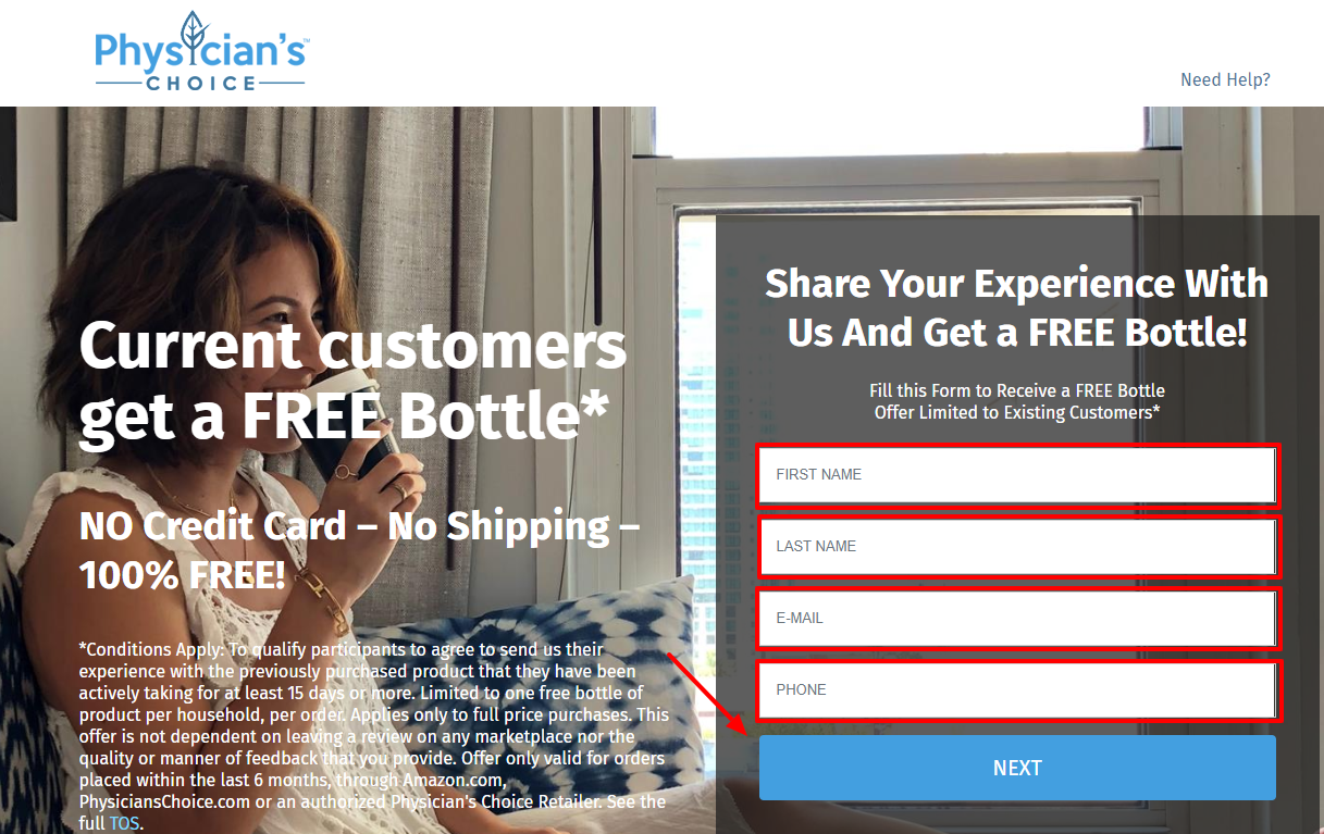 Share Your Experience With Physician's Choice And Get a FREE Bottle