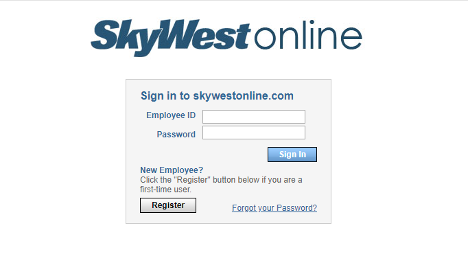 How to logging to your SkyWest online portal