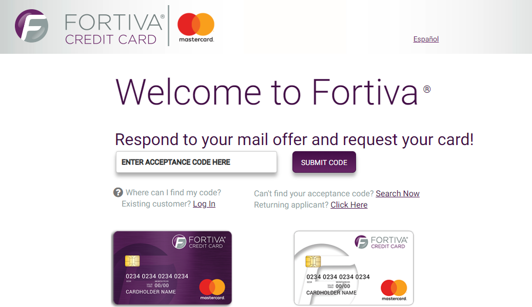 Applying for Fortiva Credit Card