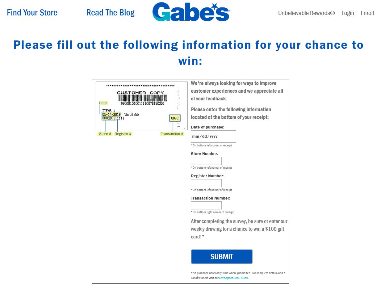 Gabe s Customer Survey