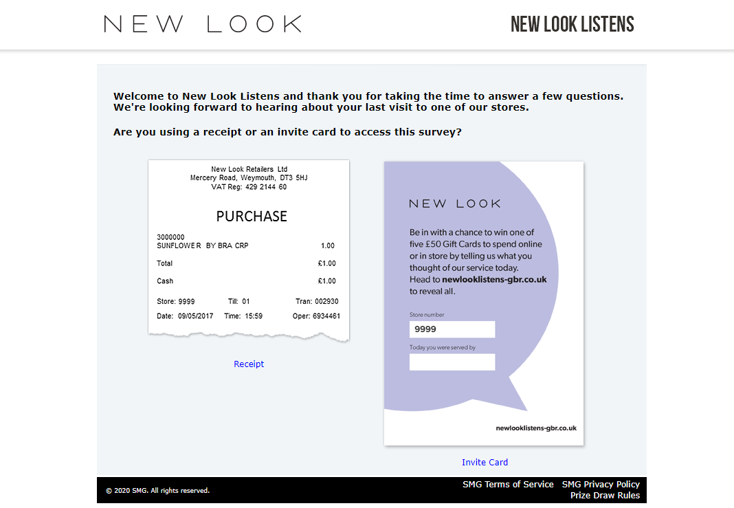 New Look Listens Survey