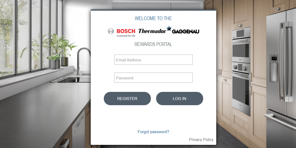 Bosch Rewards Portal register