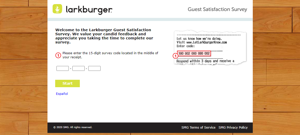 Larkburger Guest Survey
