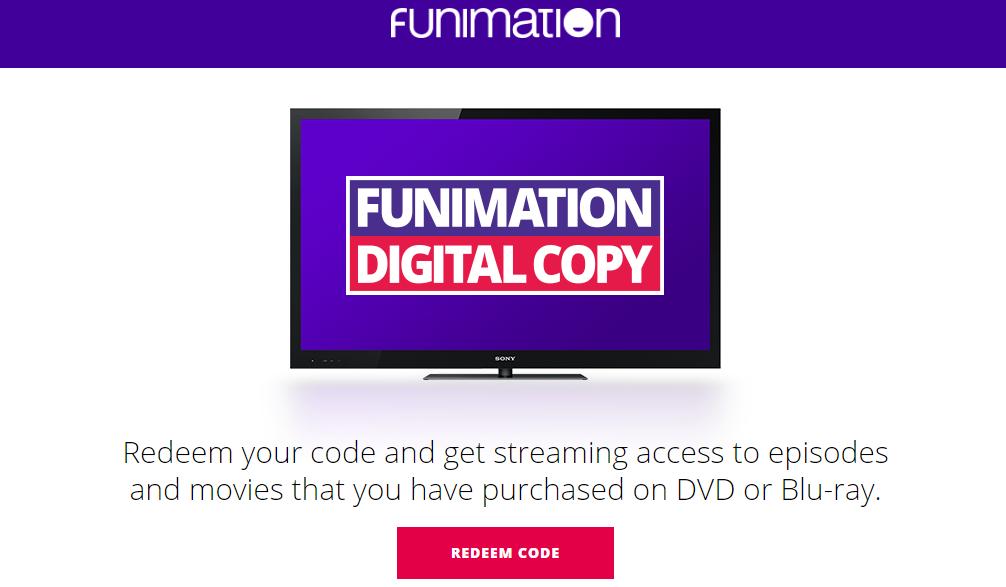 Redeem the Code of Funimation Digital Copy