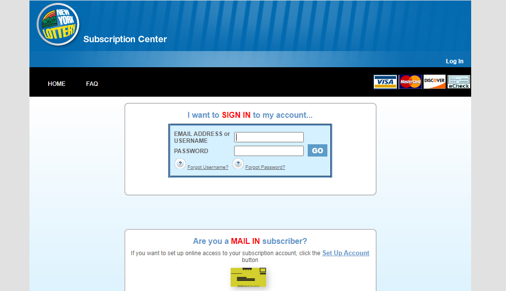 New York Lottery Online Portal loginNew York Lottery Online Portal login