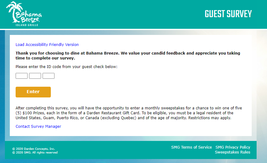 Bahama-Breeze-Guest-Satisfaction-Survey