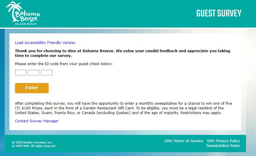 Bahama-Breeze-Guest-Satisfaction-Survey