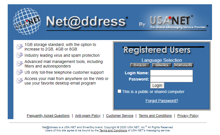 Net Address Email Login