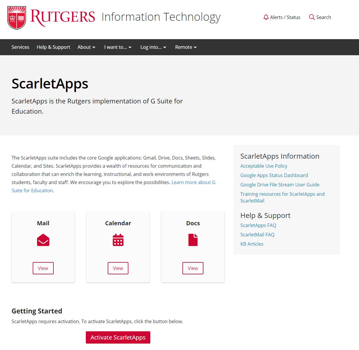 Scarlet Mail Rutgers EDU
