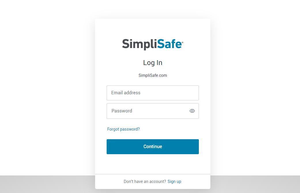 SimpliSafe login