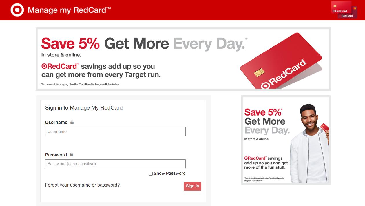 Target Red Card Login