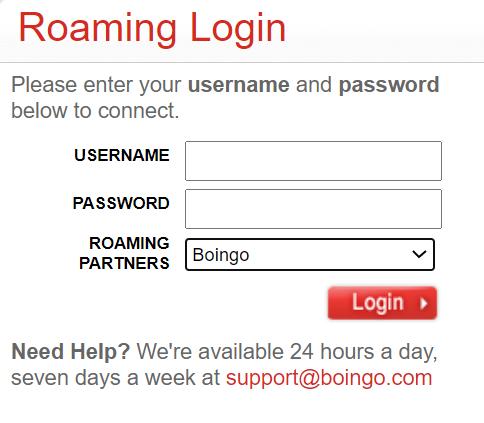 Boingo hotspot login