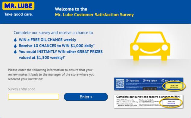 Mr.Lube Customer Satisfaction Survey